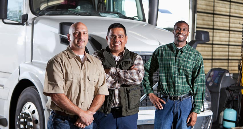Group of Truck Drivers after finishing training